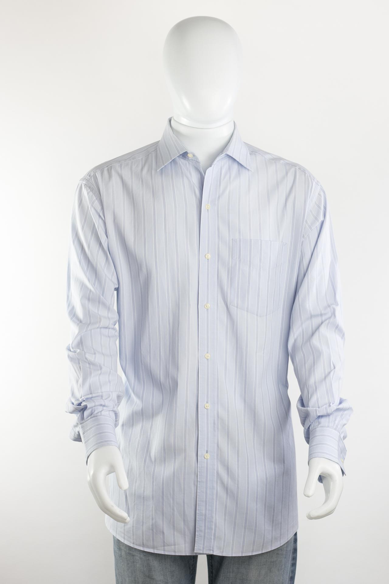 a97bd2a6b23 TOMMY HILFIGER - Camisa masculina azul listrada - Brechó Agora é Meu!