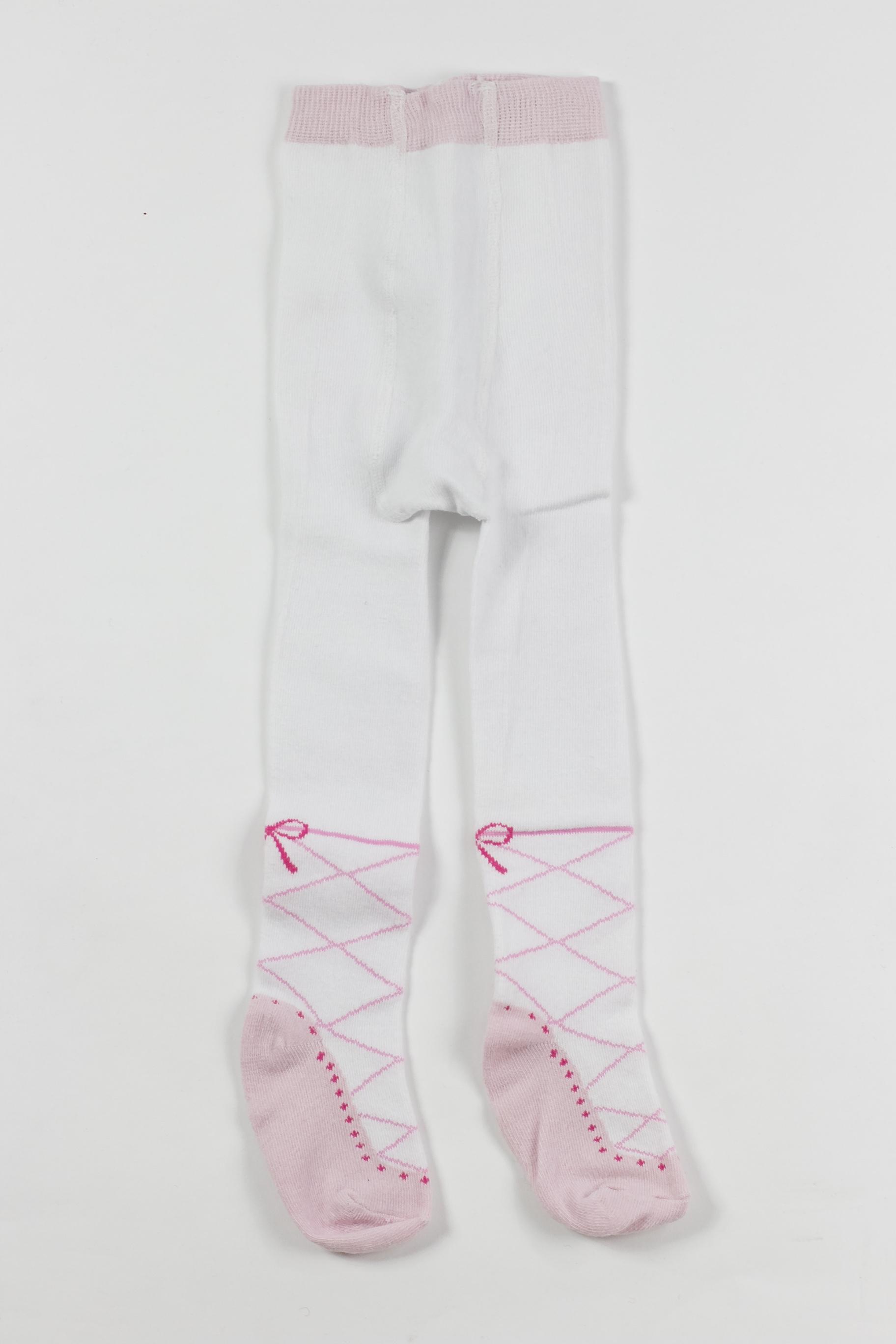 a70220e9e Meia calça infantil com detalhe bailarina - Brechó Agora é Meu!